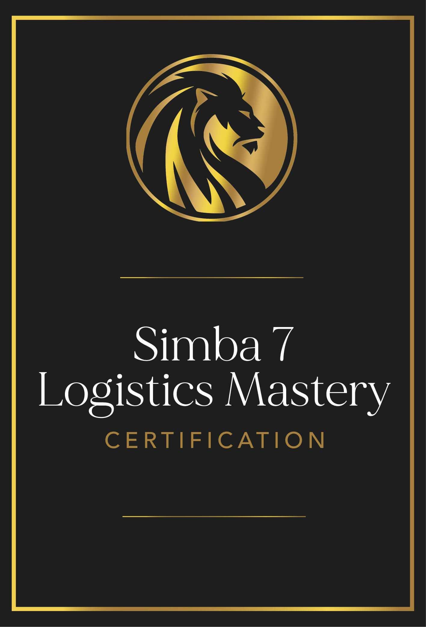 Simba 7 Logistics Mastery Certification